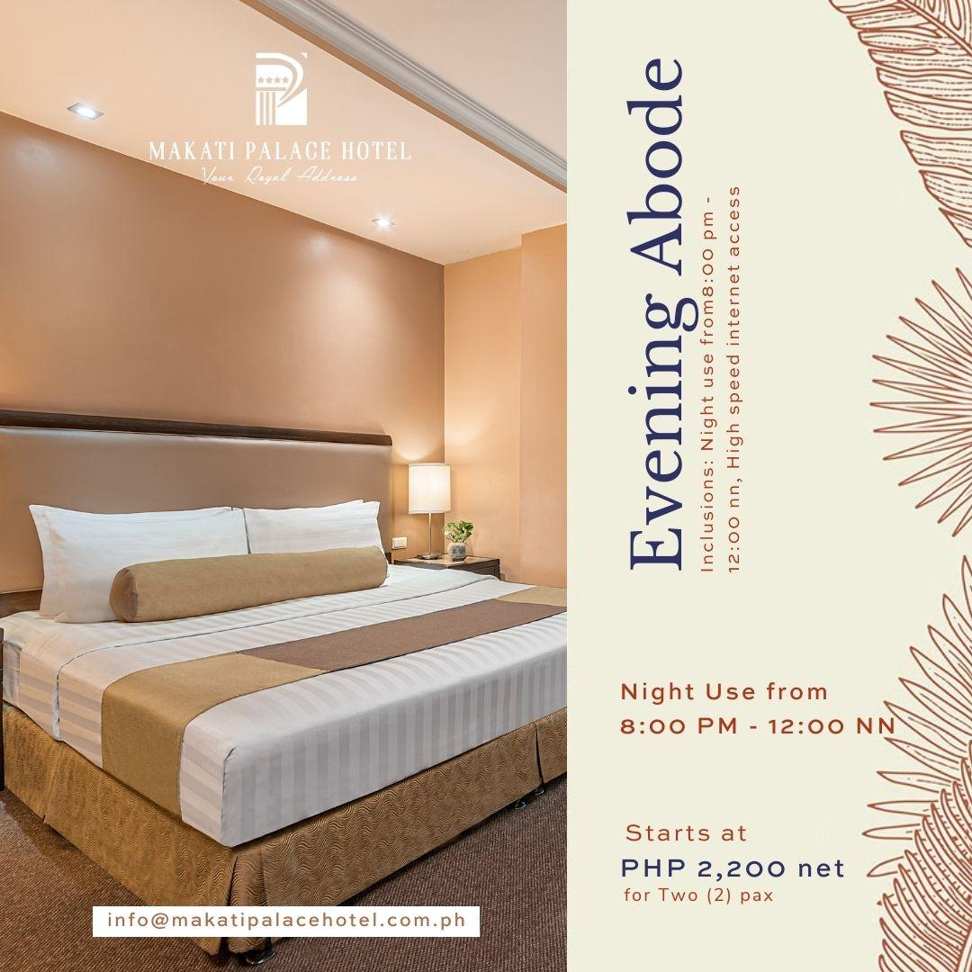 Non-Quarantine Hotel In Makati. Night Stay Promo
