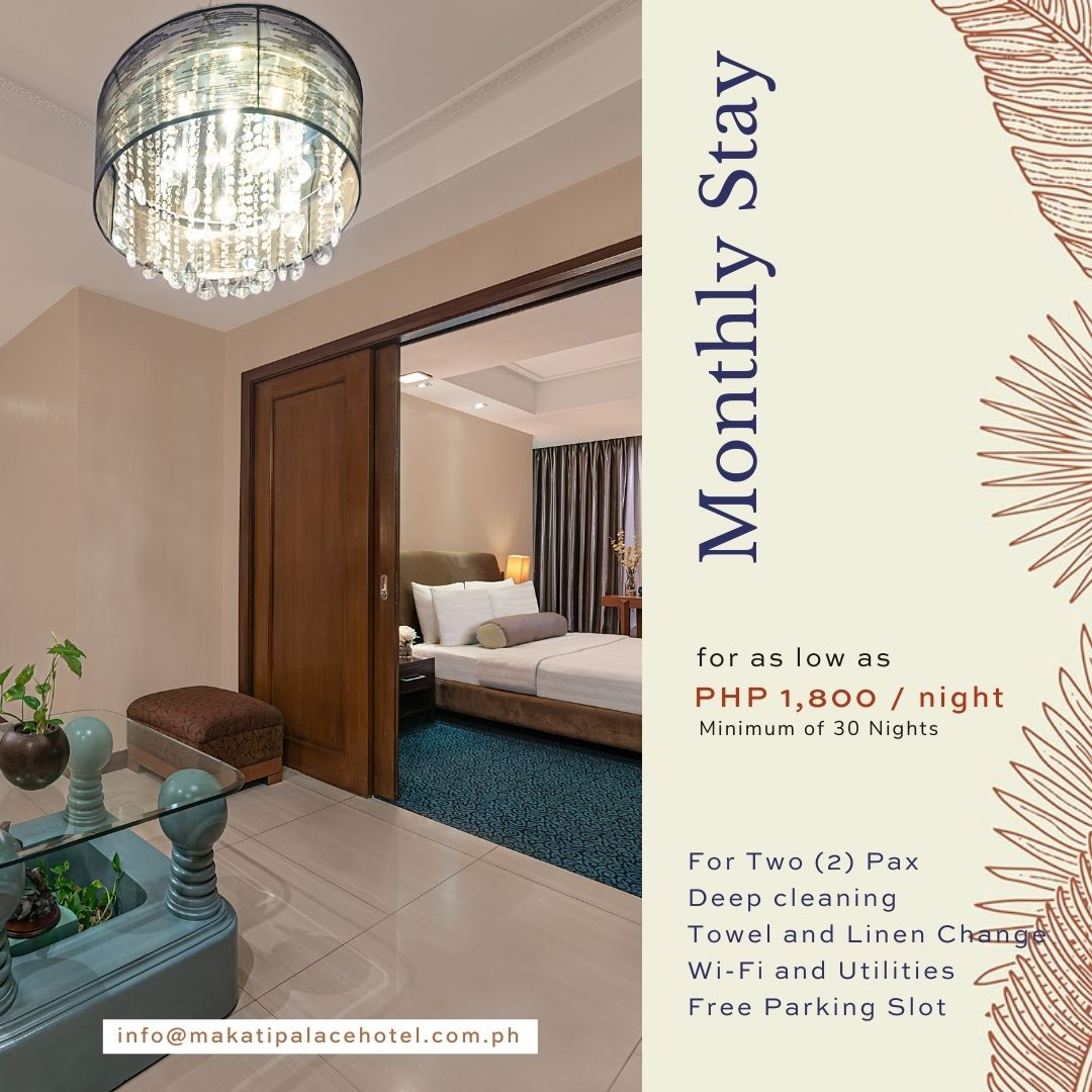 Non-Quarantine Hotel in Makati - Monthly Stay