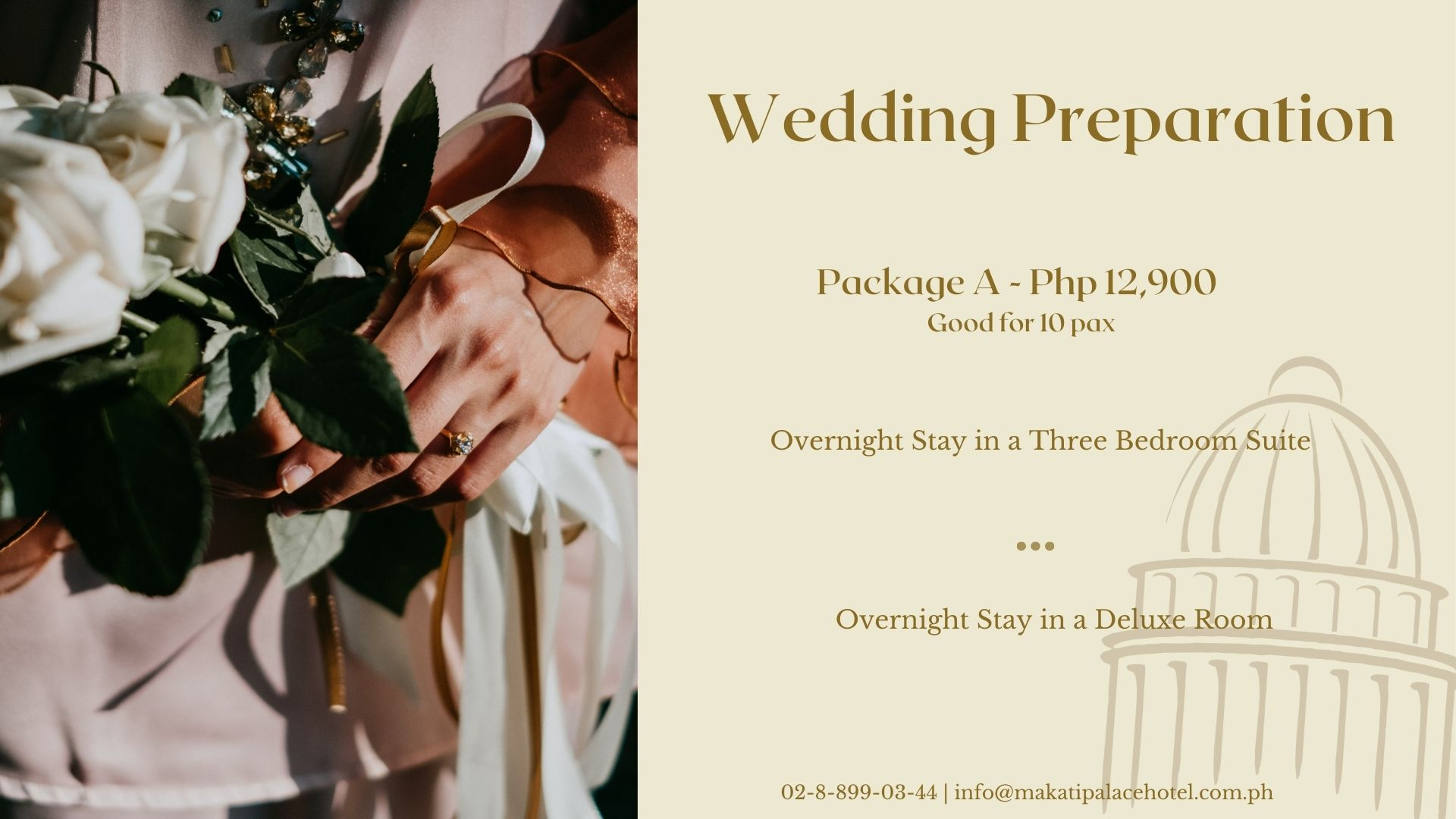 Wedding Preparation Package in Makati Hotel