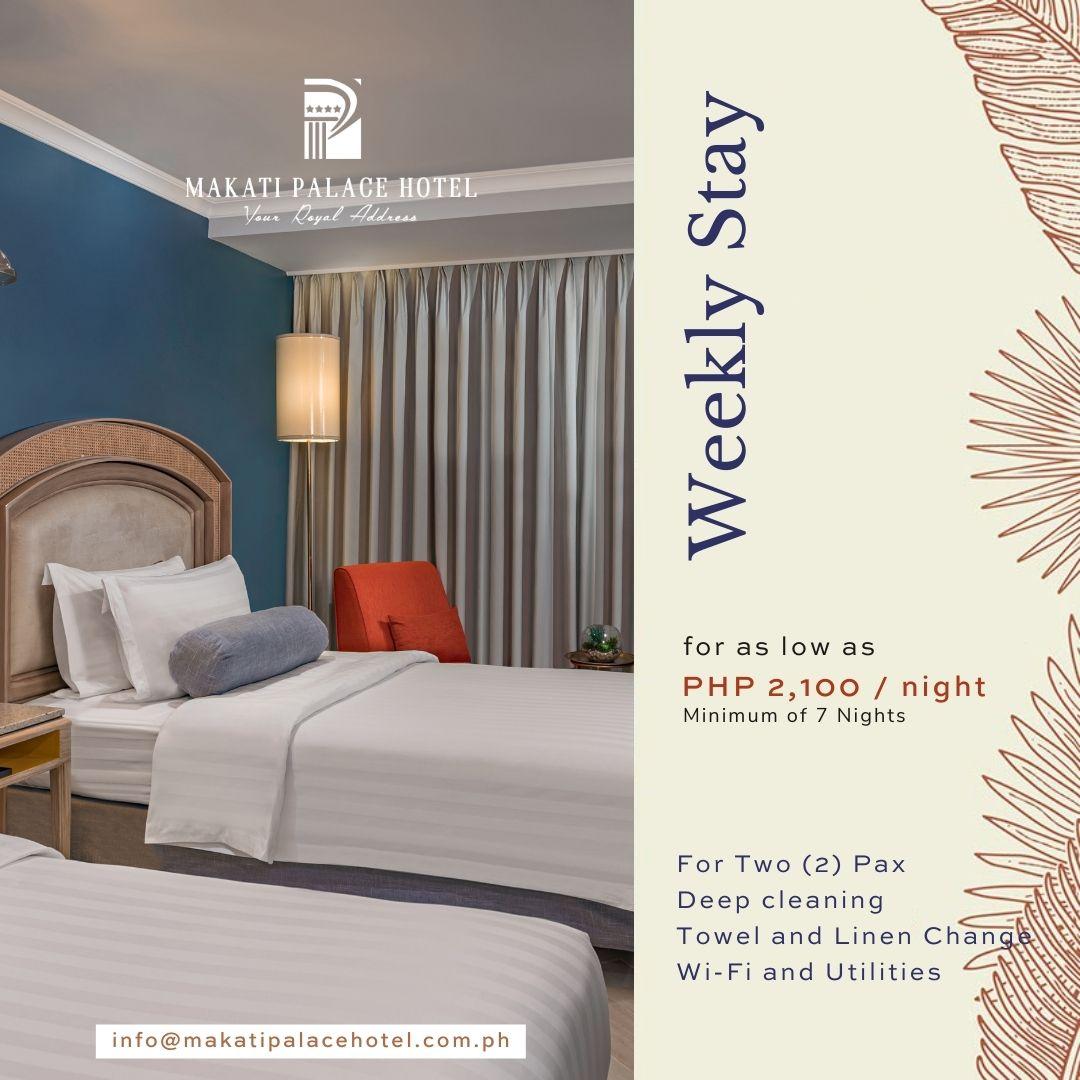 Non-Quarantine Hotel in Makati - Weekly Stay